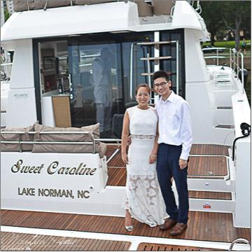 Simon and Dan-Bi Yacht Wedding