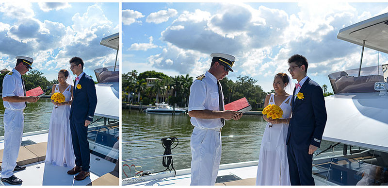 Simon and Dan-Bi Yacht Wedding